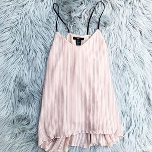 H&M / Pink Pleated Tank Top
